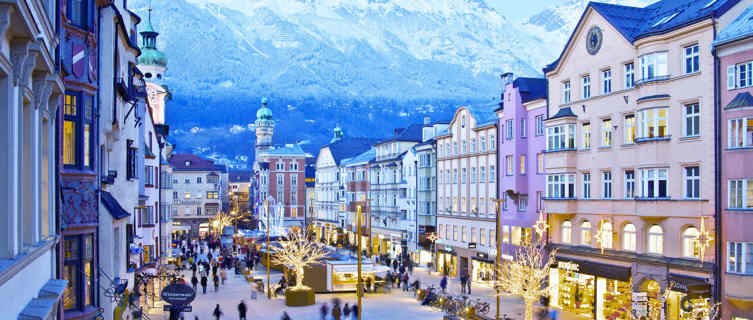 image showing the city centre of Innsbruck (Maria-Theresien-Straße)