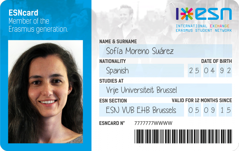 Picture of the ESN card